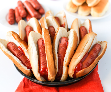 Hot dog fingers Halloween