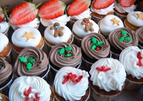 Mini Cupcakes Navideños con cava